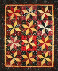 Asian Flair Touching LeMoyne Stars quilt