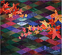 Autumn Leaves Colorwash Diamonds Quilt