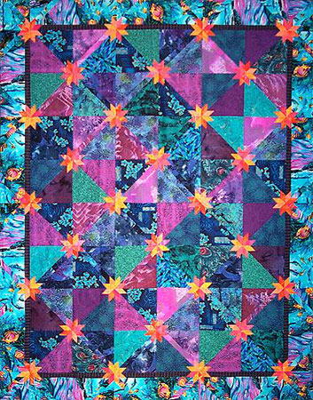 Teal & Purple Batik Hunter Star