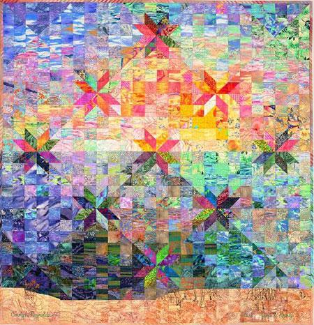 Colorwash Hunter Star Quilt Quilt by Jan P. Krentz : color wash quilts - Adamdwight.com