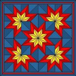 Quick Snow Crystals Star Quilt Variation
