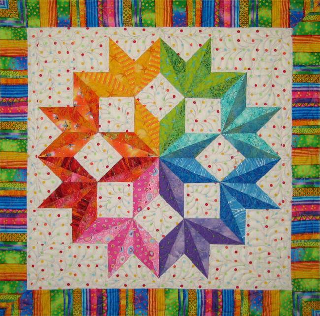 Quick Split Broken Star Color 01 Quilt By Jan P Krentz