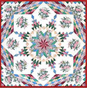 Remembrance Feathered Lone Star Quilt