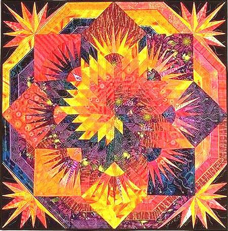 Spiral Lone Star Quilt Quilt By Jan P Krentz