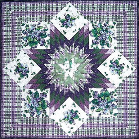 Violets & Ivy Lone Star Quilt