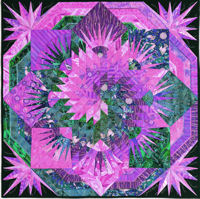Spiral Lone Star purple green 1