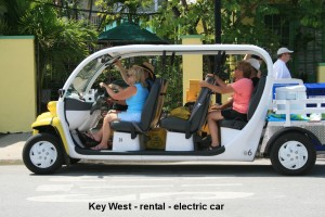 rent an electric cart!