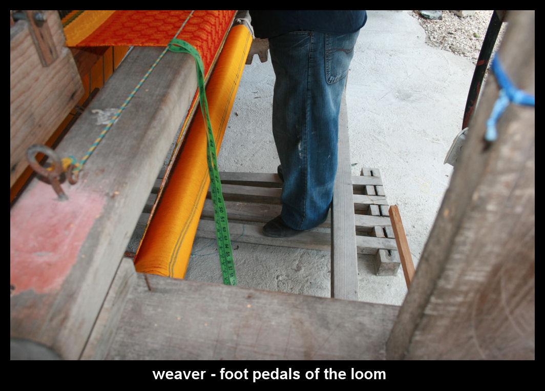 loom weaving - foot action