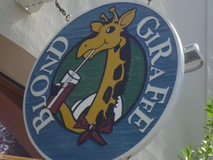 Blond Giraffe sign, Key West