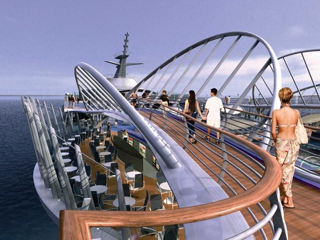 Enchantment of the Seas - upper walking deck
