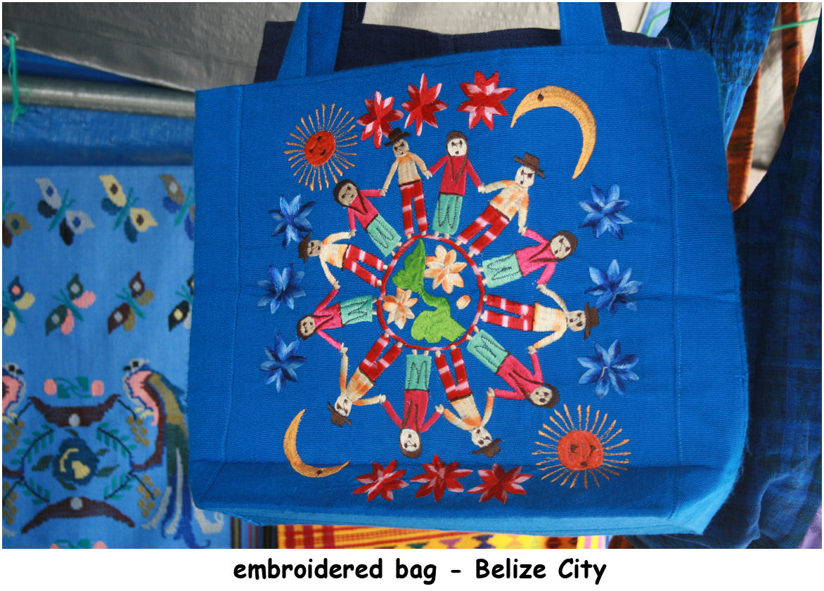 Belize - embroidered purse