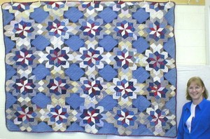 Antique multi Broken Stars quilt