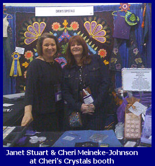 Cheri's Crystals booth