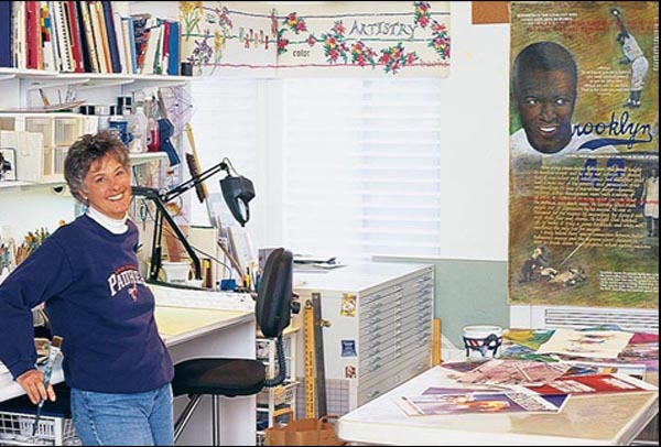 Jacqueline Lacey in her studio