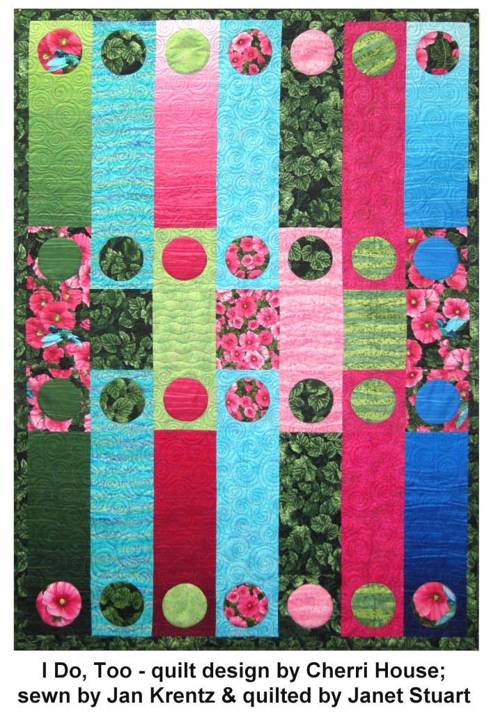Hollyhock Garden I Do, Too quilt