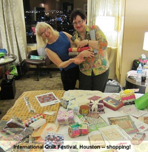 "Jan & Anita - ""loot"" purchased at the quilt show"