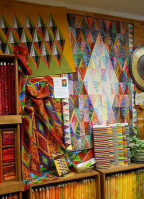 Quilt display at Creations